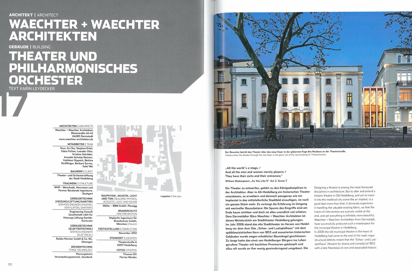 DAM Jahrbuch 2013/14 W+W Theater und Philharmonisches Orchester Heidelberg