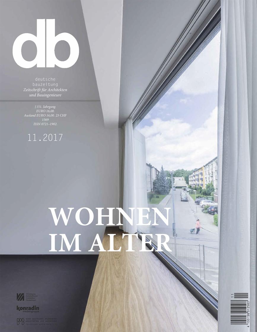 deutsche bauzeitung Titelblatt Artikel_Wohnen im Alter