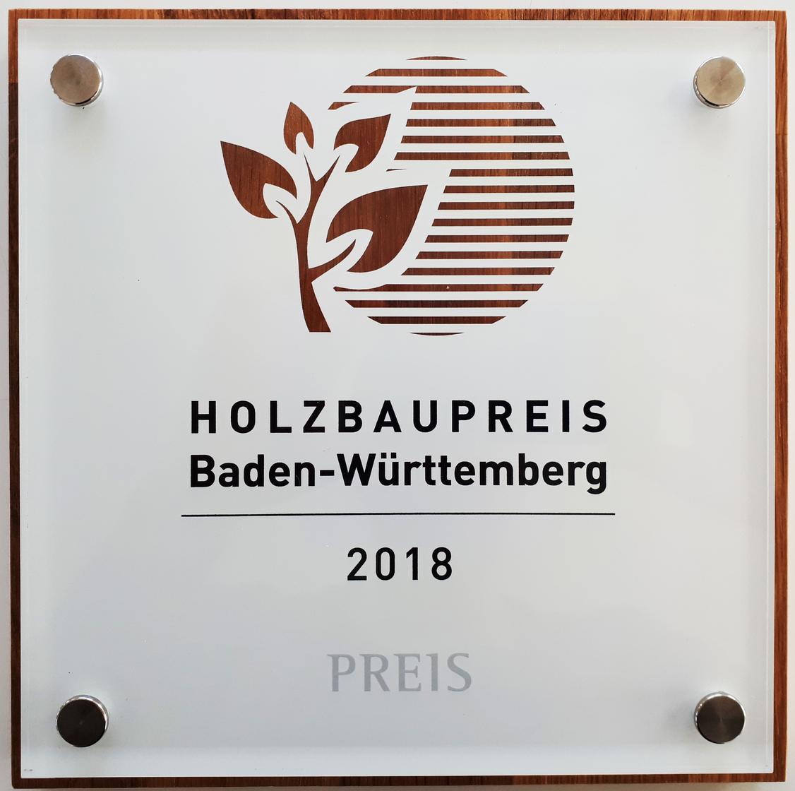 holzbaupreis bw 2018_plakette