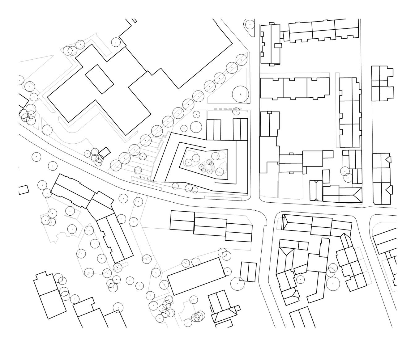 Kinder- und Jugendzentrum Pankratiusstraße Darmstadt Lageplan