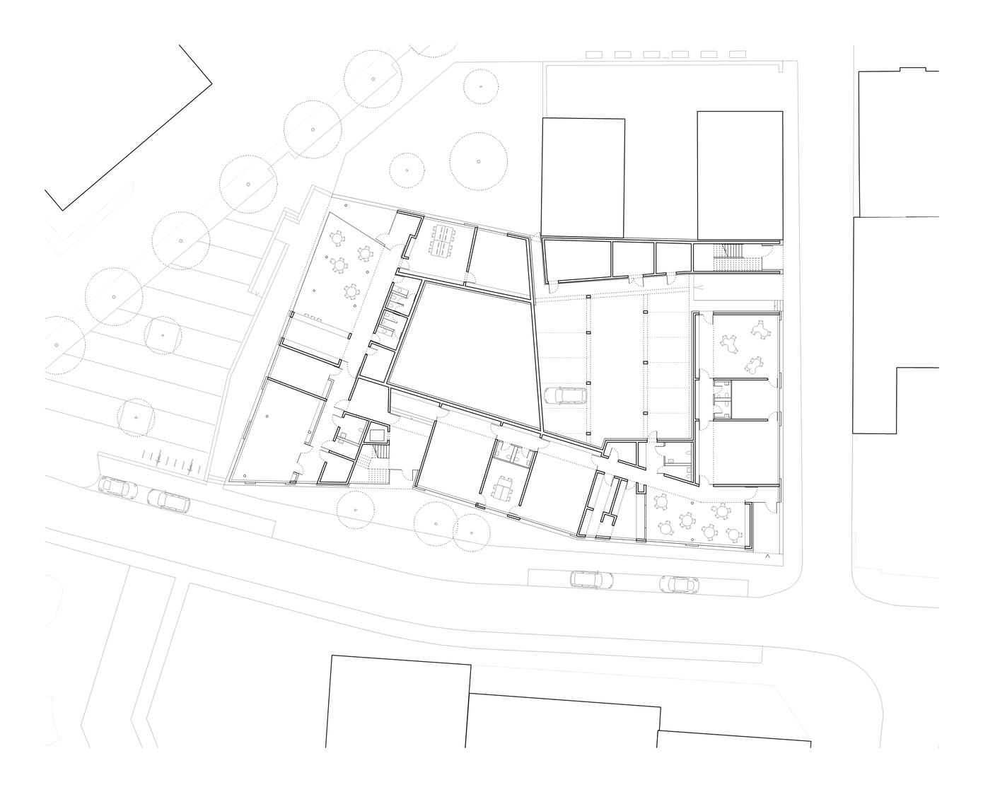 Kinder- und Jugendzentrum Pankratiusstraße Darmstadt Grundriss Erdgeschoss