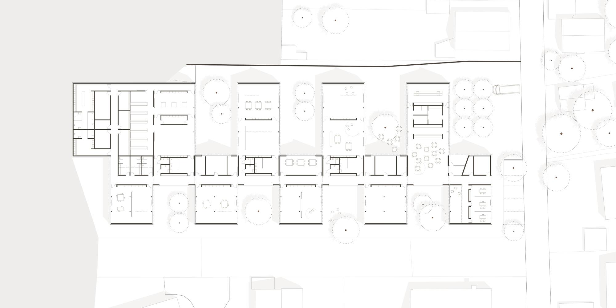 Werkstatt f r behinderte menschen und medizinisches for Architektur werkstatt