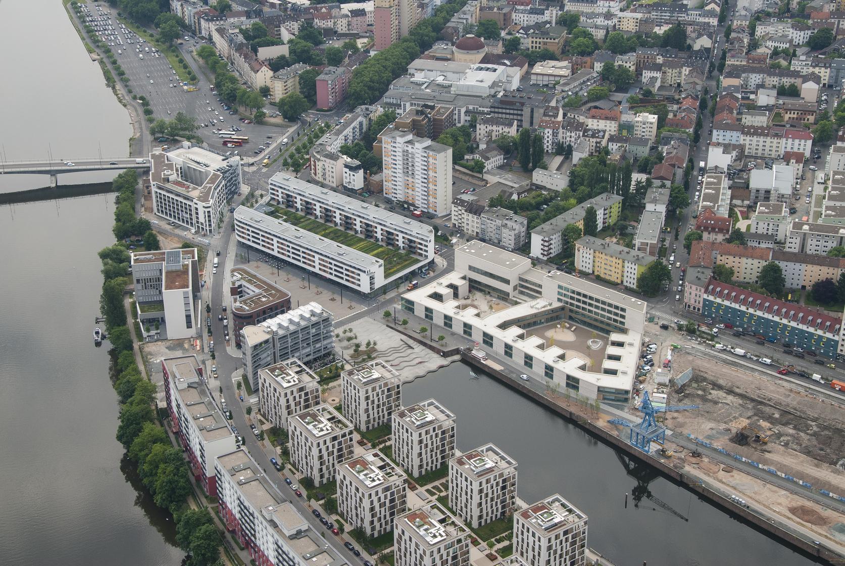 Hafenschule Offenbach Luftansicht W+W
