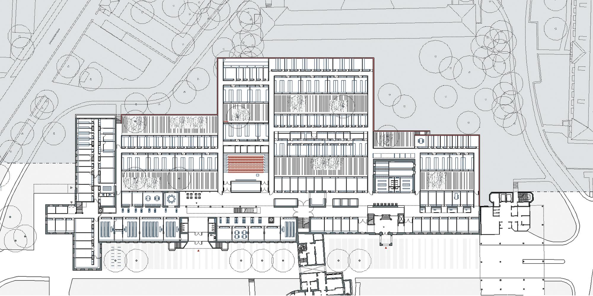 Instituts- und Laborgebaude - Grundriss