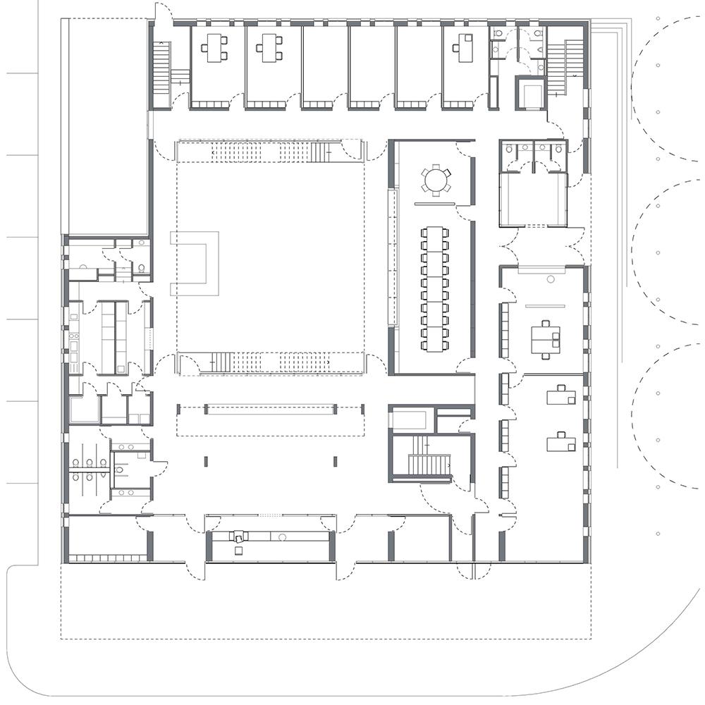 Justizzentrum, Oberlandesgericht und Polizeistation_Darmstadt