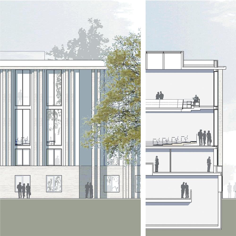 Landtag Berlin-Brandenburg - Ansicht - Detailschnitt