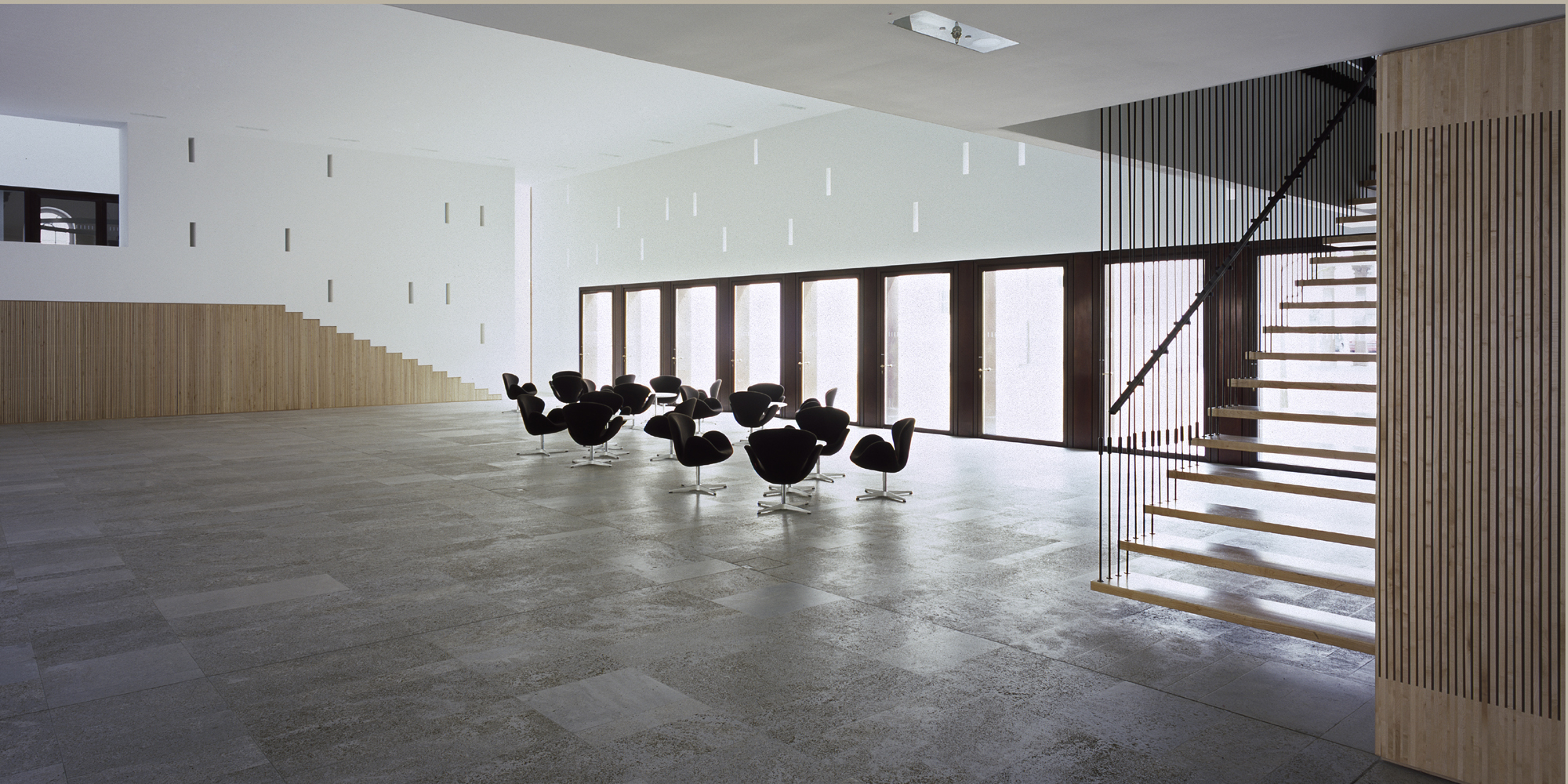 Plenarsaalgebaeude Hessischer Landtag - Halle