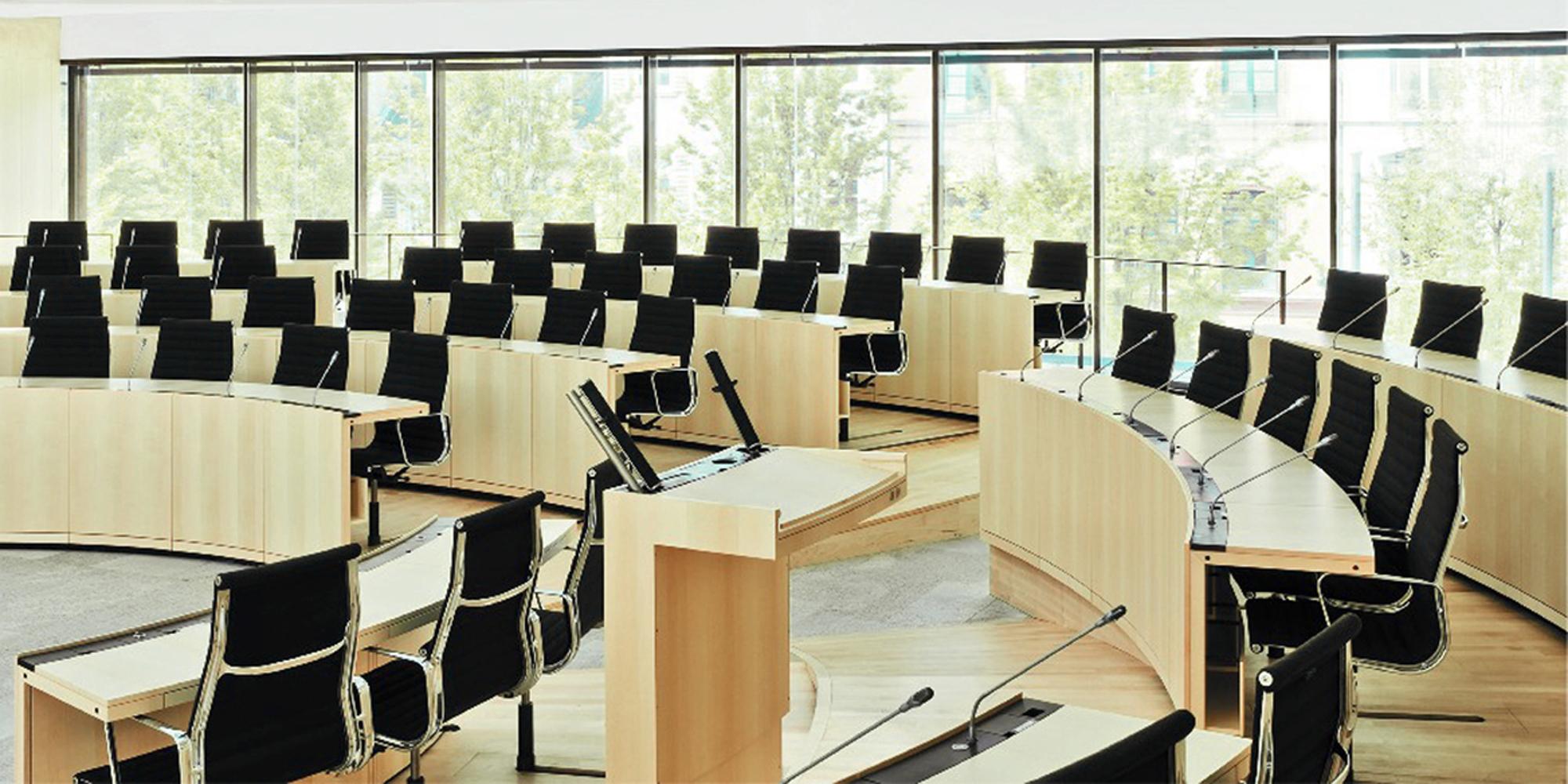 Plenarsaalgebaeude Hessischer Landtag
