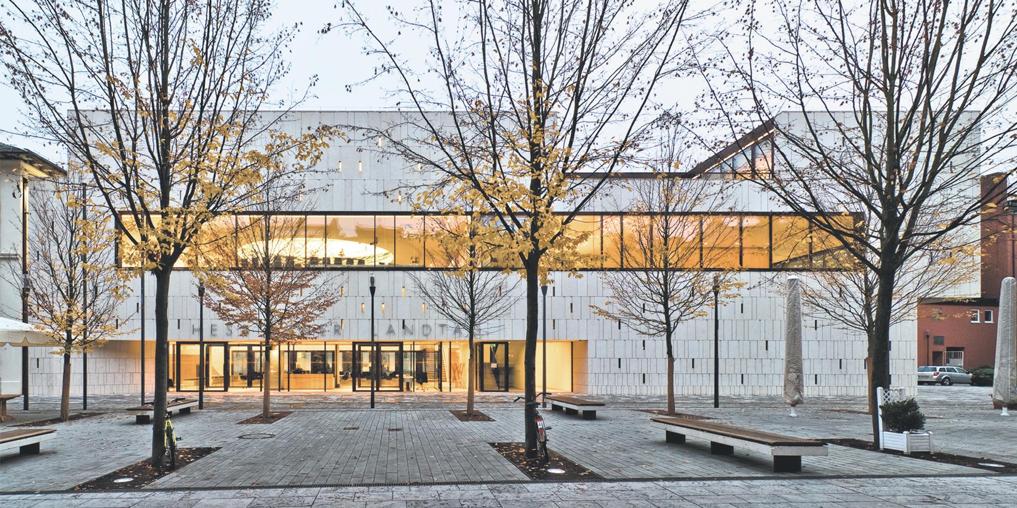 Plenarsaalgebäude Hessischer Landtag Fassade