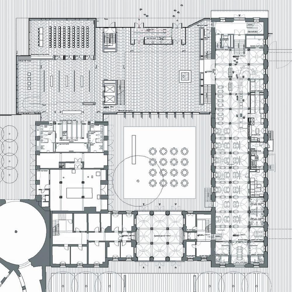 Plenarsaalgebäude Hessischer Landtag Grundriss EG
