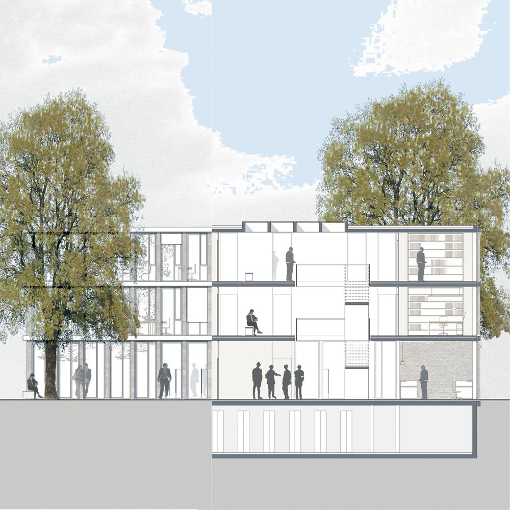 Rathaus Grosskrotzenburg - Detailschnitt