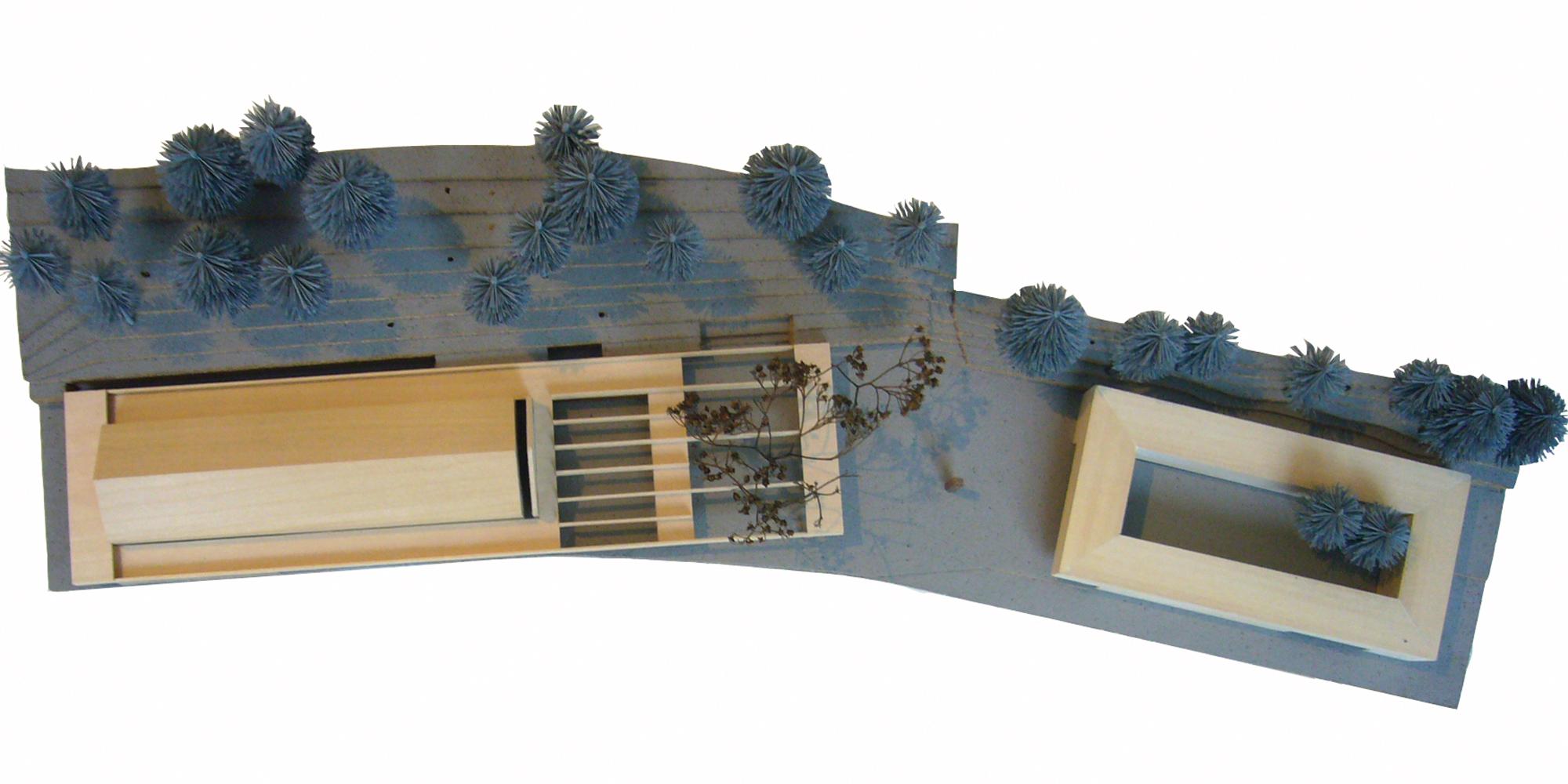 Saalbau - Modell