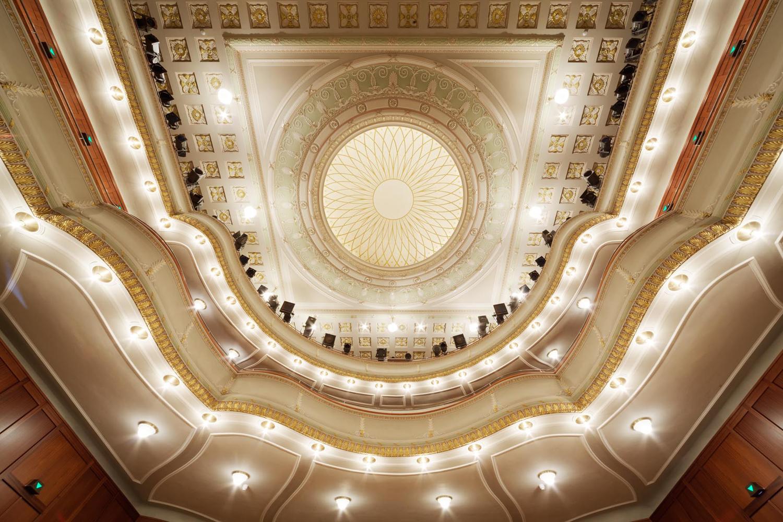 Theater und Philharmonisches Orchester | Untersicht Decke Alter Saal