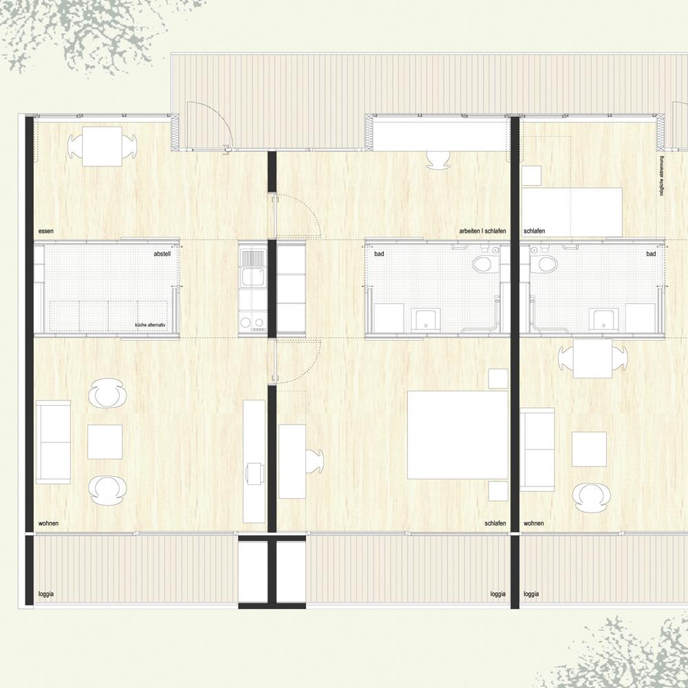 Zentrum für Wohnen und Pflege - Detailgrundriss
