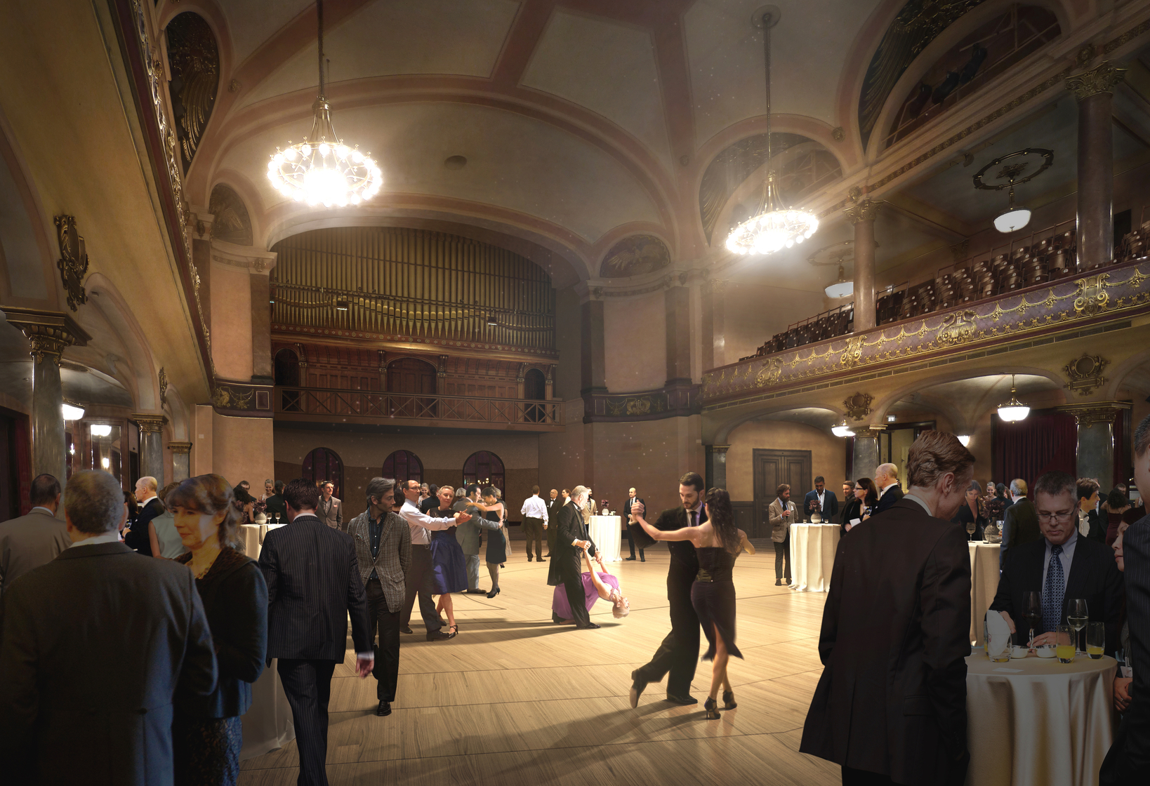 Heidelberg Konzerthaus Grosser Saal Bankett W+W