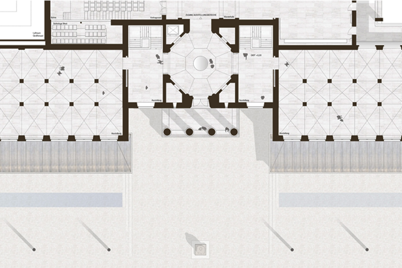 Grundriss Ausstellungsebene